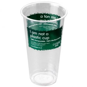 Printed Biodegradable Pint Cup From Biopac
