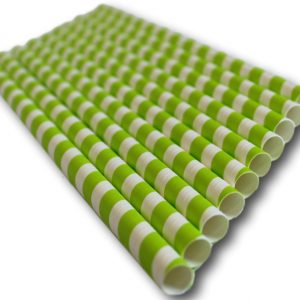 Compostable wide paper straw