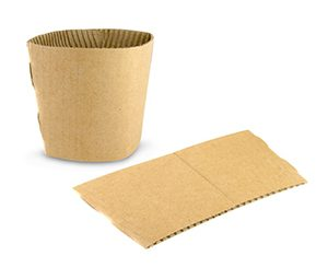 Environmentally friendly coffee cup sleeve