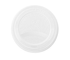Off-white Eco-friendly Coffee Cup Lid by Vegware
