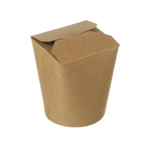 Biodegradable hot noodle box from Biopac